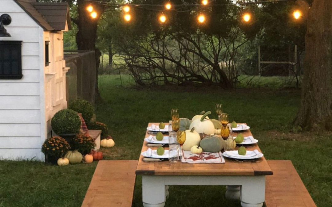 How to Host a Farm to Table Outdoor Fall Dinner