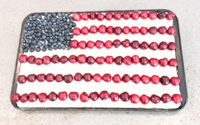 Patriotic Flag Cookie Cake Recipe