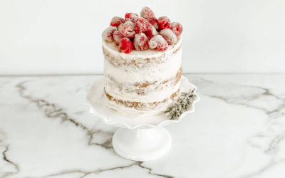 Raspberry Vanilla Creme Cake